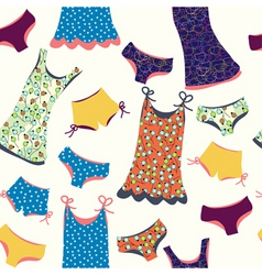 lingerie pattern vector image vector image