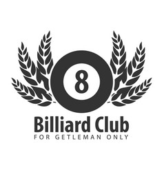 logo for billiard school club or shop vector image vector image