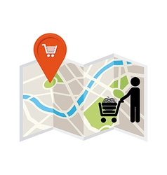 market location vector image