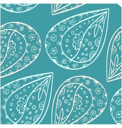 Paisley ethnic seamless pattern vector image