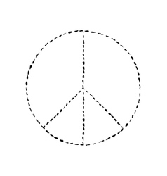 peace symbol icon friendship pacifism vector image vector image