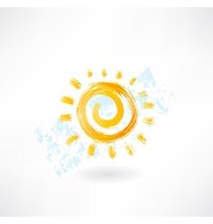 Sun grunge icon vector image vector image