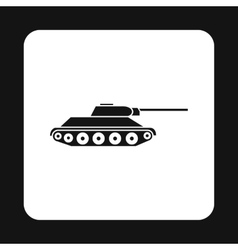 Tank icon in simple style vector image