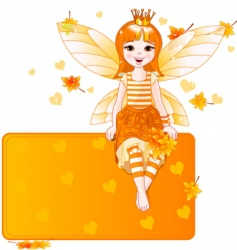 thanksgiving fairy place card vector image
