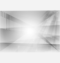 triangle and straight line gray geometric vector image vector image
