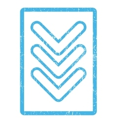 Triple pointer down icon rubber stamp vector