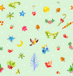 Watercolor christmas green background vector