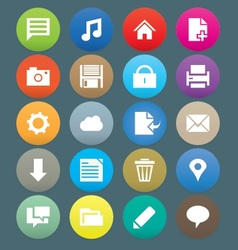 Web icons 30 vector image vector image