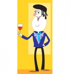 Wine man vector