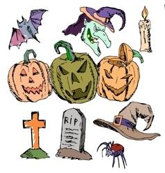 Seamless pattern for halloween pumpkin vector