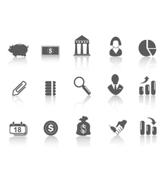 simple bank icon vector image