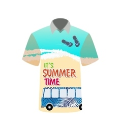 T-shirt with image of sea bus for trip to rest vector