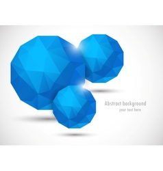 Abstract background with polygonal spheres vector image