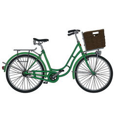 retro green bicycle vector image