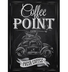 Poster retro coffee chalk chalk vector