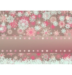 Vintage christmas card with snowflakes eps 8 vector