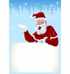 Santa claus card vector