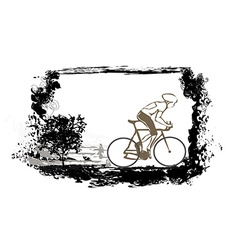 Cycling Grunge Poster vector image
