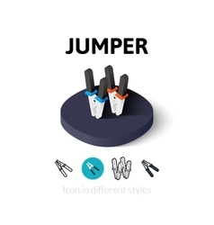 Jumper icon in different style vector