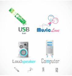 technical icons vector image