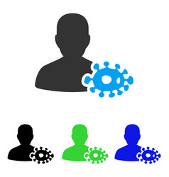Bacteriologist flat icon vector