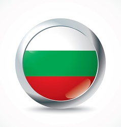 Bulgaria flag button vector image vector image