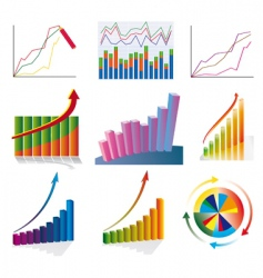 business charts vector image vector image