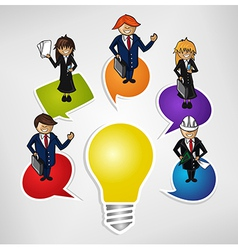 Business teamwork social idea people vector image vector image