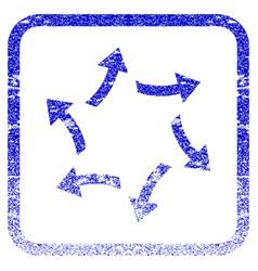 Centrifugal arrows framed textured icon vector
