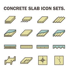 Concrete slab icon vector