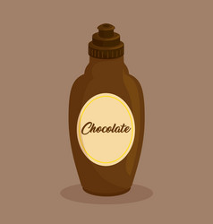 cream chocolate bottle icon vector image