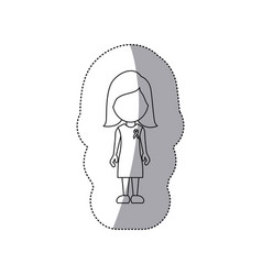 Figure woman with breast cancer symbol in the vector