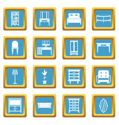 furniture icons azure vector image vector image