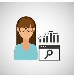 girl working icon vector image