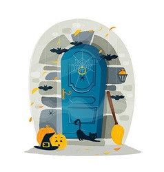 Halloween door vector image vector image