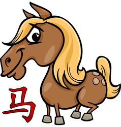 Horse chinese zodiac horoscope sign vector