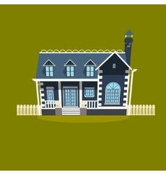 House building cartoon vector image vector image