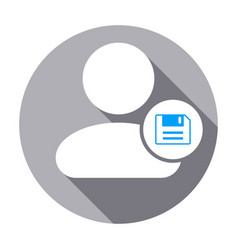 Info people save user icon vector