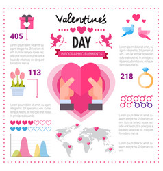 love infographic banner with copy space set of vector image vector image