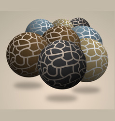 many balls vector image