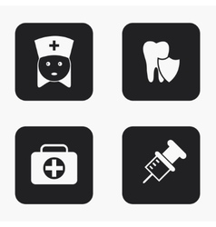 modern medical icons set vector image vector image
