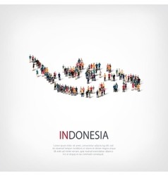 People map country indonesia vector