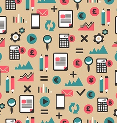 Seamless pattern with accountancy equipment vector image
