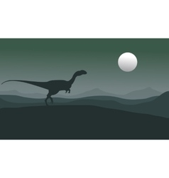 Silhouette of one megapnosaurus vector