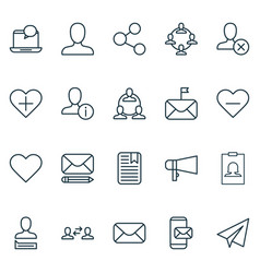 social icons set collection of edit phone vector image vector image