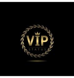 VIP status label vector image