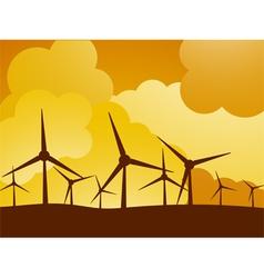 wind turbine farm vector image vector image
