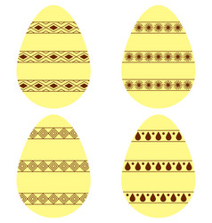 Yellow brown eggs2 vector