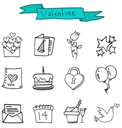 Element valentine day of icons vector