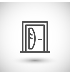 Door line icon vector image